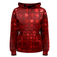 Glossy Tiles,red Women s Pullover Hoodie