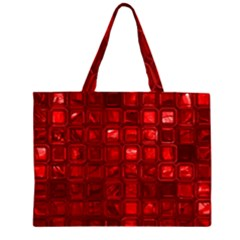 Glossy Tiles,red Large Tote Bag