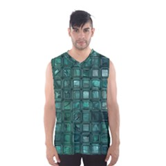 Glossy Tiles,teal Men s Basketball Tank Top