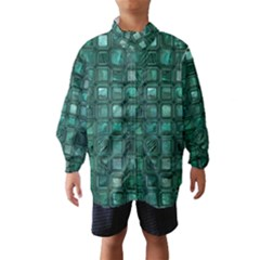 Glossy Tiles,teal Wind Breaker (kids)