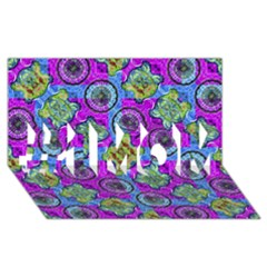 Collage Ornate Geometric Pattern #1 Mom 3d Greeting Cards (8x4)