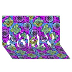 Collage Ornate Geometric Pattern Sorry 3d Greeting Card (8x4)