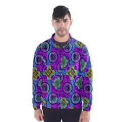 Collage Ornate Print Wind Breaker (Men)
