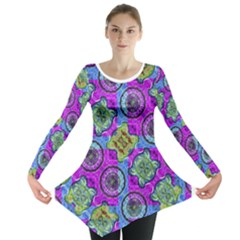 Collage Ornate Print Long Sleeve Tunic