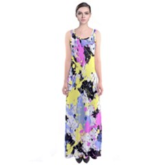 Abstract Full Print Maxi Dress