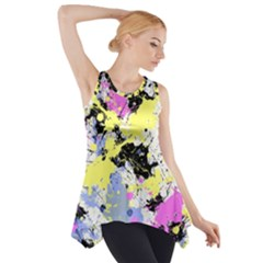 Abstract Side Drop Tank Tunic