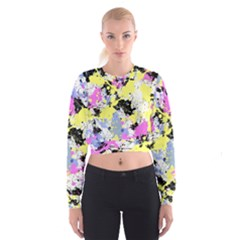 Abstract Women s Cropped Sweatshirt