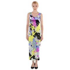 Abstract Fitted Maxi Dress