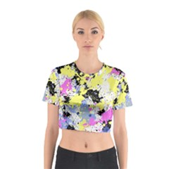 Abstract Cotton Crop Top
