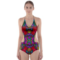 May Your Wonderful Dreams Come True In Fauna   Cut-Out One Piece Swimsuit