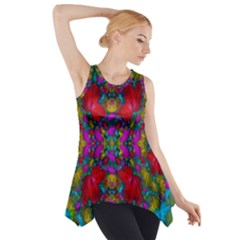 May Your Wonderful Dreams Come True In Fauna   Side Drop Tank Tunic