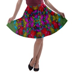 May Your Wonderful Dreams Come True In Fauna   A Line Skater Skirt