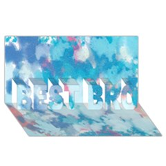 Abstract #2 Best Bro 3d Greeting Card (8x4)