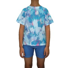 Abstract #2 Kid s Short Sleeve Swimwear