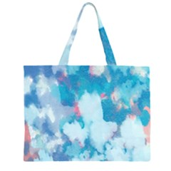 Abstract #2 Zipper Large Tote Bag