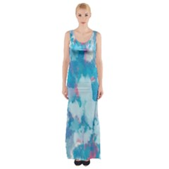 Abstract #2 Maxi Thigh Split Dress