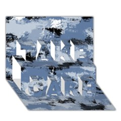 Abstract #3 Take Care 3d Greeting Card (7x5)