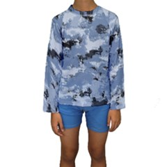 Abstract #3 Kid s Long Sleeve Swimwear