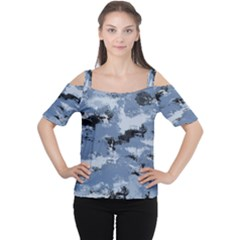 Abstract #3 Women s Cutout Shoulder Tee