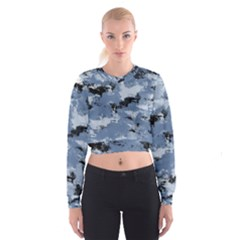 Abstract #3 Women s Cropped Sweatshirt