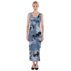 Abstract #3 Fitted Maxi Dress