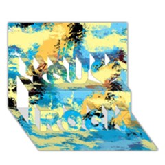 Abstract #4 You Rock 3d Greeting Card (7x5)