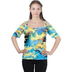Abstract #4 Women s Cutout Shoulder Tee