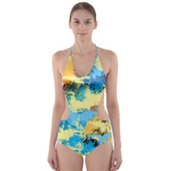 Abstract #4 Cut Out One Piece Swimsuit