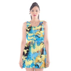 Abstract #4 Scoop Neck Skater Dress