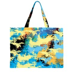 Abstract #4 Zipper Large Tote Bag