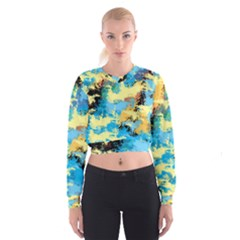 Abstract #4 Women s Cropped Sweatshirt