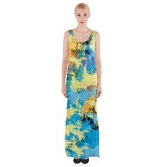 Abstract #4 Maxi Thigh Split Dress