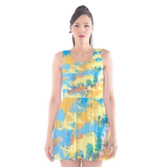 Abstract #5 Scoop Neck Skater Dress