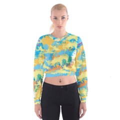 Abstract #5 Women s Cropped Sweatshirt