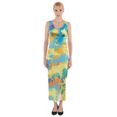 Abstract #5 Fitted Maxi Dress