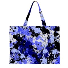 Abstract #7 Zipper Large Tote Bag