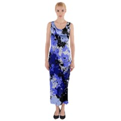 Abstract #7 Fitted Maxi Dress