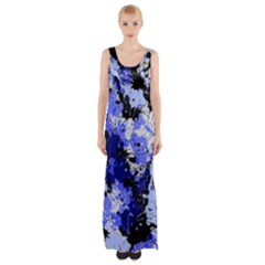 Abstract #7 Maxi Thigh Split Dress