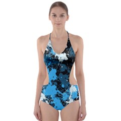 Abstract #8 Cut Out One Piece Swimsuit