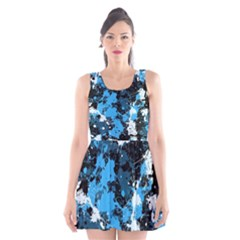 Abstract #8 Scoop Neck Skater Dress