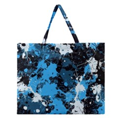 Abstract #8 Zipper Large Tote Bag