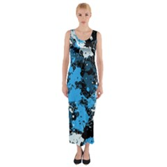 Abstract #8 Fitted Maxi Dress
