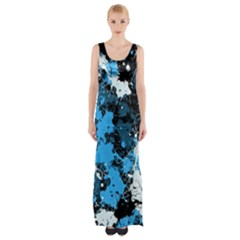 Abstract #8 Maxi Thigh Split Dress