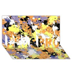 Abstract #9 Best Bro 3d Greeting Card (8x4)