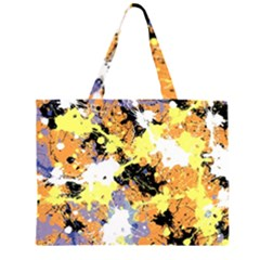 Abstract #9 Zipper Large Tote Bag