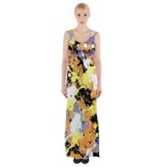 Abstract #9 Maxi Thigh Split Dress