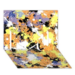 Abstract #10 I Love You 3d Greeting Card (7x5)
