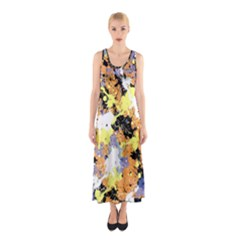 Abstract #10 Full Print Maxi Dress
