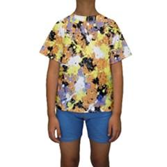 Abstract #10 Kid s Short Sleeve Swimwear