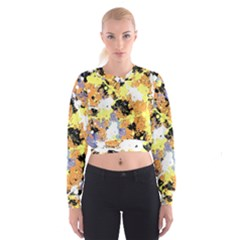 Abstract #10 Women s Cropped Sweatshirt